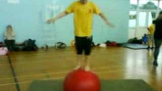 Lydia Ball Balancing at Blackpool Circus School