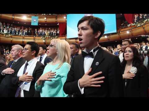 Димаш Кудайберген - участник сессии Ассамблеи народа Казахстана