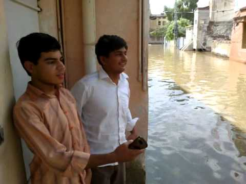 Condition,of,old,sukkur,near,to,mp.a,house,due,to,rain. video