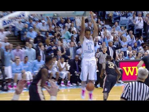 UNC Men's Basketball: Paige & Johnson Go Back-Door vs. FSU