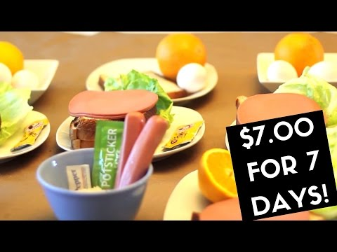 How to eat for seven days on seven dollars