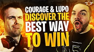 COURAGE AND LUPO DISCOVER THE BEST WAY TO WIN! (Fortnite: Battle Royale)