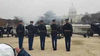 President George H.W. Bush funeral 21 gun salute