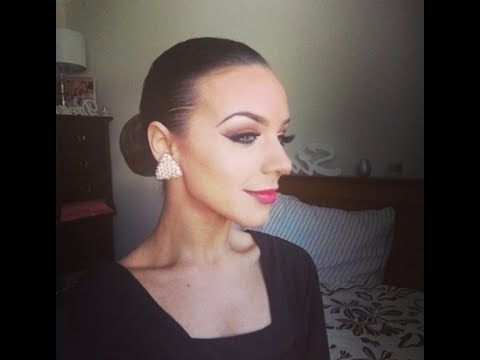 Ballroom Dancing Makeup Tutorial Incl Sleek Bun! video