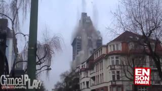 380-foot Frankfurt tower block leveled with explosives