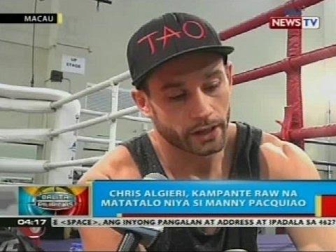 Chris Algieri, kampante raw na matatalo niya si Manny Pacquiao; Pacman, 'di nagpatinag