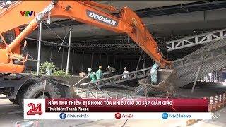 Sập giàn giáo tại Hầm Thủ Thiên, giao thông kẹt cứng nhiều giờ đồng hồ | VTV24