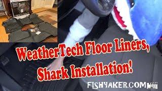 WeatherTech Floor Liner Mats: So easy a shark can install them! - 2017 Silverado