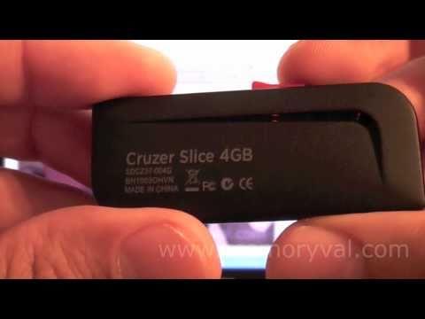 SanDisk USB Cruzer Slice - Análisis y Test Velocidad (CrystalDiskmark)