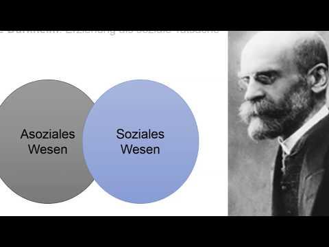 Emilé Durkheim: Erziehung als soziale Tatsache