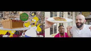 Binging with Babish 5 Million Subscriber Homer Simpson's NOLA Food Tour Comparison