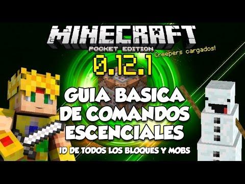 GUIA BASICA DE COMANDOS - MINECRAFT PE 0.15.4 - LISTA DE ID's Y MAS