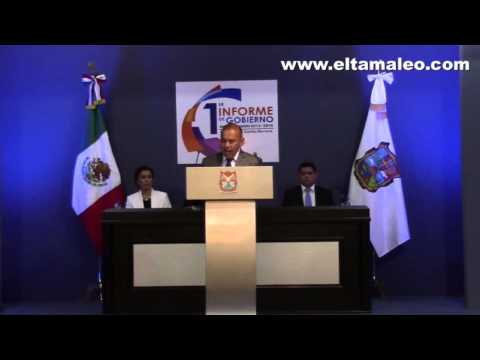 RINDE RAMIRO CORTEZ BARRERA SU  PRIMER INFORME DE GOBIERNO MUNICIPAL