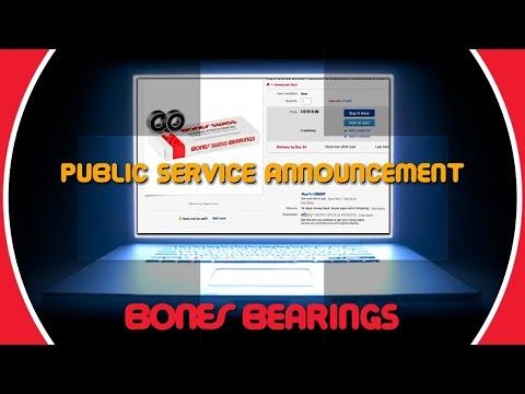 Bones Bearings Public Service Announcement