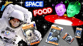 EATING IN SPACE! Astronaut Food w  Lexi! FUNnel V Taste Test Review