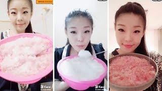 BIG SATISFYING BITES!! | Crushed soft ice eating video