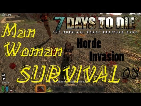 7 Days to Die Man Woman Survival Episode 8 Zombie City!