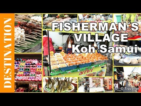 Fisherman's Village Friday night market - Bophut Beach, Thailand - Koh Samui attractions - 4K