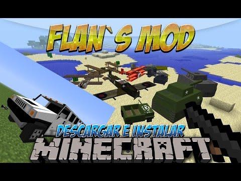 Minecraft 1.7.10 - Como descargar e instalar Flan´s MOD (Aviones y armas) - Tutorial
