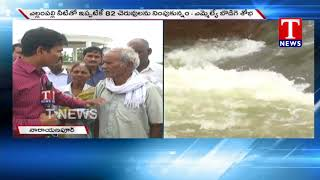 Live Report | Yellampalli Project  Water Released to  Kodimial Mandal Lakes | Karimnagar