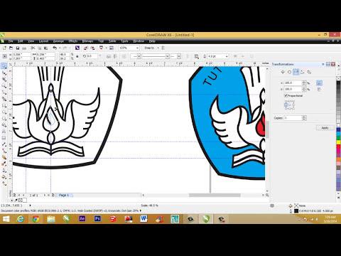Cara membuat logo Tut Wuri Handayani dengan corelDRAW