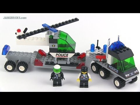 Lego System 6328 Helicopter Transport Police Set Review