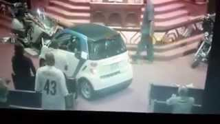 Preacher Drives Car Thru CHURCH!