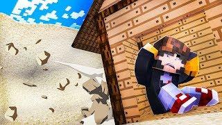 Minecraft: DESAFIO DA BASE 100% SEGURA CONTRA TSUNAMI DE AREIA!