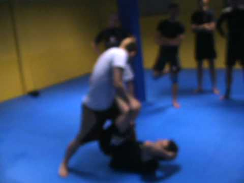 Ankle Lace Leg lock - Reilly Bodycomb: Sambo Camp in Brussels Belgium 2010 Image 1