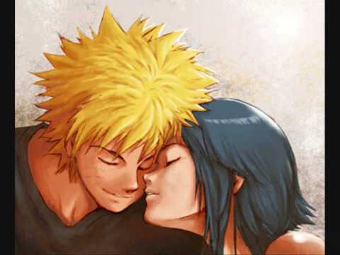 naruto and hinata kiss from a rose
