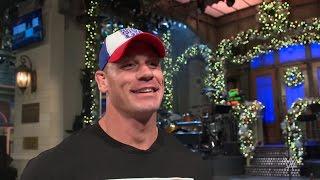 John Cena feels the pressure of hosting