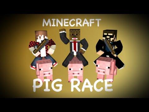 Minecraft PIG RACING Minigame