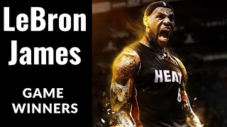 All Of LeBron James Game Winners