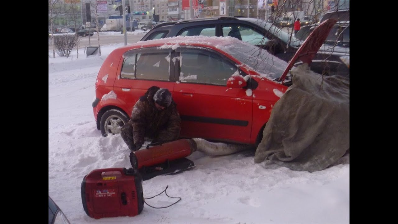 Как отогреть двигатель в мороз своими руками 119