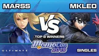 Momocon 2019 SSBU - Fox | MKleo(Joker) vs PG | Marss(ZSS)  Winners Semis