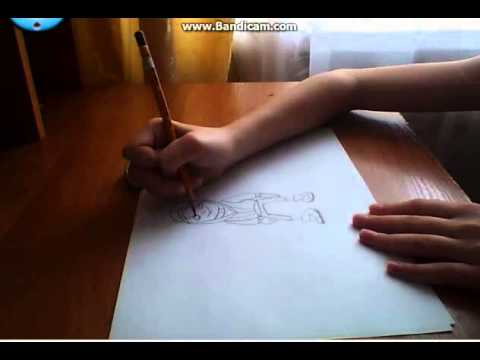 Видео как нарисовать Сабвей Серф карандашом