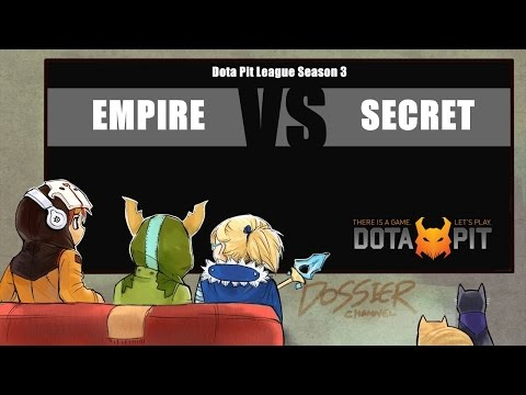 [ Dota2 ] Empire vs Secret - Dota Pit League Season 3 - Thai Caster