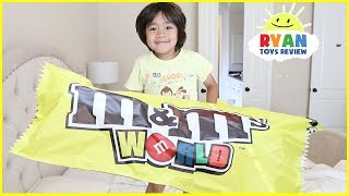 Lean Colors with Giant M&M candy with Ryan ToysReview