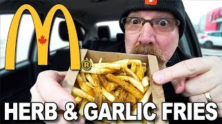 🌿🍟 McDonald's Herb & Garlic Fries 🍟 Food Review