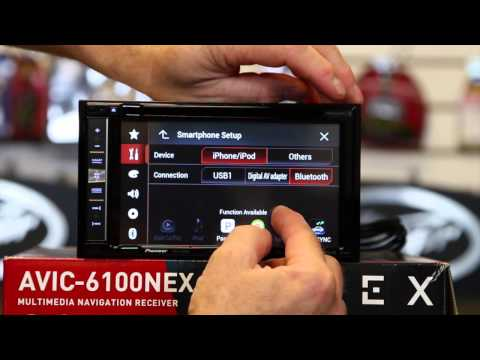 "Pioneer's new AVIC 6100NEX 6 2"" Navigation radio with Bluetooth, Carplay, DVD, and HD Radio"