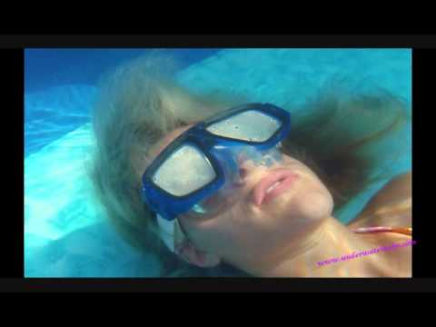 Underwater breath holding torture video 17 -- 3 x 2