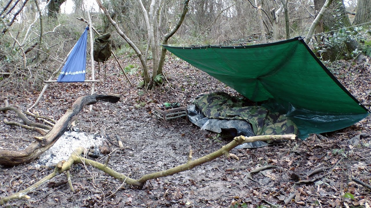 Winter Wild Camping in My Local Woods - YouTube