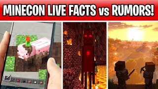 Minecraft Earth, Dungeons & Update 1.15! Minecon Live 2019 Facts vs Rumors!