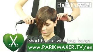 Short haircut with long bangs parikmaxer tv english version