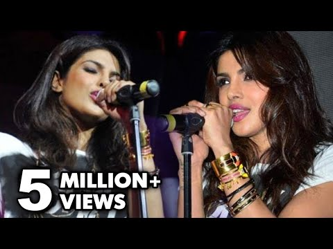 Can Priyanka Chopra Really Sing ?   Priyanka Chopra's First Live Performance video