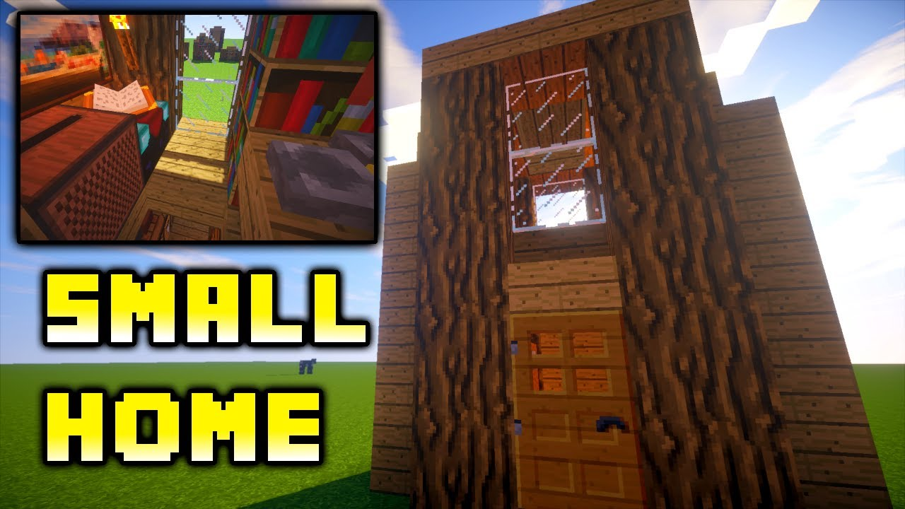 Minecraft how to build easy small house ideas tutorial for Easiest tiny house to build