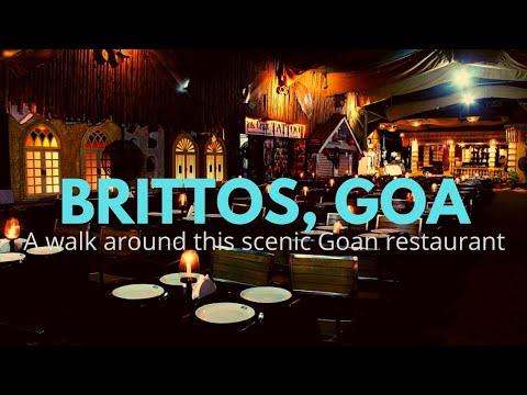 Goa beach India | Brittos Restaurant, Baga, Goa.