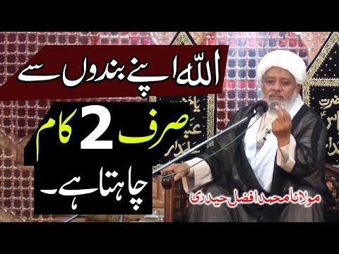 Allah Apny Bandon Sy 2 Kaam Chahta Hay.. | Maulana Muhammad Afzal Haidery | 4K