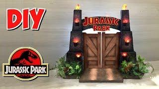 DIY Jurassic World - Diorama Portões do Jurassic Park.