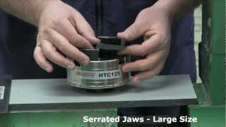 Hurricane HTC125 Woodturning Chuck - Showing Various Optional Jaws